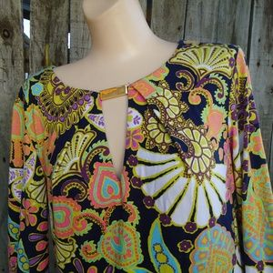 Trina Turk Multi Color Dress $298 Sz 6 Floral